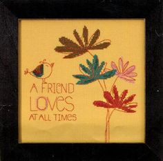 See the pretty A Friend Loves kit (cross stitch) at Nordic Needle