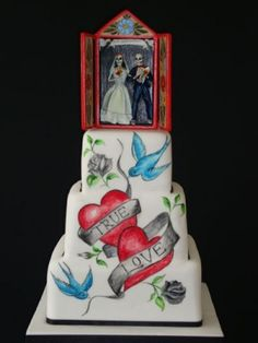 True Love Tattoo Wedding Cake! Sometimes you have to think outside the box.
