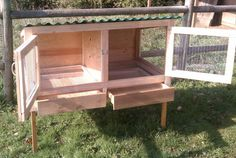 perfect rabbit hutch for 2, with pull-out drawers for compost