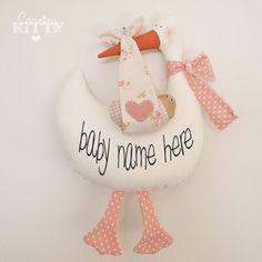 Cicogna softie neonato decorazione  Fiocco nascita cicogna