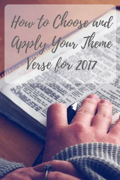 how to choose and apply a verse for the new year