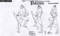 Living Lines Library: Tarzan (1999) - Animals & Other Human Characters