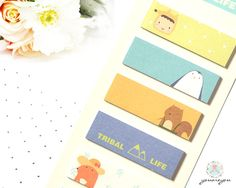 Sticky Note set, Cute Sticky Notes, Kawaii Post it Notes, Planner Stickers, Page Flags planner, Cute Korean Stationery, Page Marker Set by youareyouco on Etsy