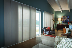 Panel track shades by Comfortex
