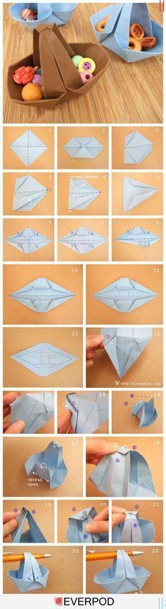 Origami Sepet Yapmak