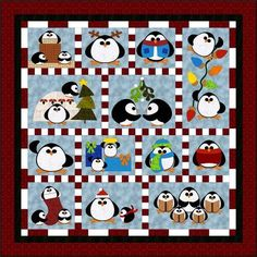 Adorable penguin quilt pattern for Winter. Penguin Cheer Quilt Pattern FCP-036 (advanced beginner, twin)- 14.95 Check out more of our quilt patterns. https://www.pinterest.com/quiltwomancom/quilts/ Subscribe to our mailing list for updates on new patterns and sales! http://visitor.constantcontact.com/manage/optin?v=001nInsvTYVCuDEFMt6NnF5AZm5OdNtzij2ua4k-qgFIzX6B22GyGeBWSrTG2Of_W0RDlB-QaVpNqTrhbz9y39jbLrD2dlEPkoHf_P3E6E5nBNVQNAEUs-xVA%3D%3D