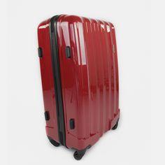 Červený cestovný kufor plastový veľký