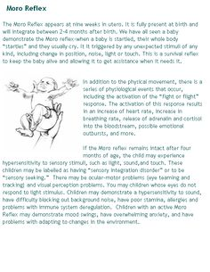 Great descriptions of infant reflexes with pictures!