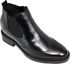 the best attitude 07461 75376 CALDEN - - 3 Inches Taller - Height Increasing Elevator Shoes-Black  Wing-tip Ankle Boots     Details can be found by clicking on the image.