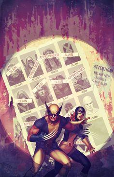X-Men (Homage to Uncanny X-Men #141) by Stephanie Hans
