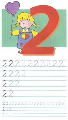 schrijfoefening 2 Preschool Number Worksheets, Numbers Preschool, Preschool Math, Kindergarten Math, Kids Learning Alphabet, Baby Learning, Phonics Song, Alphabet Phonics, Math For Kids