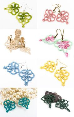 Handmade lace earrings collection by Decoromana