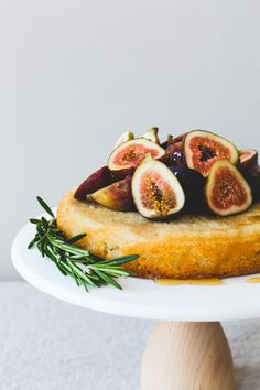 A naturally gluten-free honey fig almond cake, that's incredibly easy to make, no special flours or ingredients needed. Soft, moist, and just sweet enough.