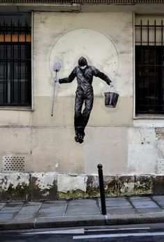 Dear art lover, today we are going to present to you Funny Art Installations By Levalet. The Beyonce of street art, this contemporary artist is turning the sad 3d Street Art, Murals Street Art, Art Mural, Street Art Graffiti, Street Artists, Yarn Bombing, Banksy, Urbane Kunst, Best Graffiti
