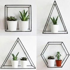 Trendy home dco bedroom plants ideas House Plants Decor, Plant Decor, Cute Room Decor, Aesthetic Room Decor, Bedroom Plants, Geometric Wall, Geometric Shelves, Trendy Home, Home Decor Accessories