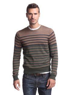 Striped Polo Shirt, Men Looks, Men's Fashion, Men Sweater, Stylish, Sweaters, How To Wear, Shirts, Moda Masculina
