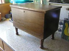 Primitive Antique Miniature 6 Board Blanket Chest Trunk Completed