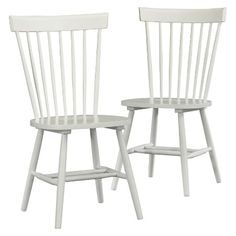 Cottage Road Spindle Back Dining Chair (Set of 2) - Soft White - Sauder : Target