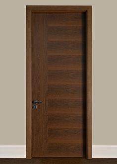 Interior Door Custom - Single - Wood Veneer Solid Core with Natural-Sucupira Finish, Modern, Model DBIM-FL2011