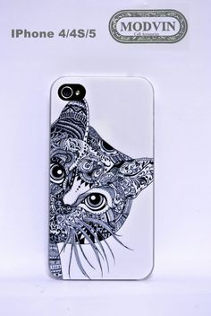Big Cat iphone case For Apple iPhone 4 4S iphone5 by ModvinCell