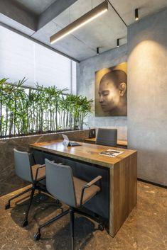 Office Cabin Design, Small Office Design, Small Space Interior Design, Dental Office Design, Modern Rustic Office, Clinic Interior Design, Office Interiors, Design Interiors, Office Workspace