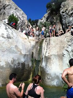 Seven Falls is one of the most popular hikes in Santa Barbara, and for good reason--the series of falls and pools make it a scenic place to swim or relax on a sunny rock.
