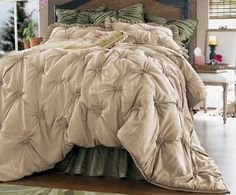 Lombardi Bedding Collection As the curving, poplar lined drive winds up to the villa, soft Mediterranean breezes play through open windows, leading you to your perfect, private sanctuary. Be swept away to the beauty of the Italian countryside by our Lombardi Collection, where soft, almost gauzy textiles are breathtakingly accented with distinctive hand-smocked details. The gathered rosette design creates a sumptuously deep drape in the supple rayon and nylon fabric for a look that epitomizes…