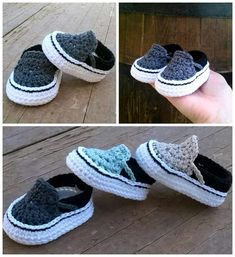 Crochet Baby Vans Shoes Are Adorable - The WHOot These crochet baby vans shoes have been hugely popular and it's easy to see why. We have a pattern and link to purchase readymade. Check them out now. Crochet Baby Blanket Beginner, Basic Crochet Stitches, Crochet Basics, Crochet For Beginners, Crochet For Kids, Baby Knitting, Free Crochet, Crochet Baby Boots, Booties Crochet