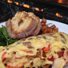 Lobster and bacon omelette