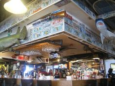 Michael's Dockside Bar & Grill: Above the bar Panama City Beach Florida, Panama City Panama, Bar Grill, Beach Pictures, Places To Eat, Trip Advisor, Restaurant, Travel, Beach Photos