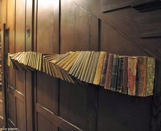 """Book shelf--Wary Meyers' """"Twisted Tales"""" book installation for the old Baxter Library Building in Portland Maine. Old Books, Vintage Books, Antique Books, Book Installation, Interactive Installation, Interactive Art, Greige, Ideas Prácticas, Craft Ideas"""