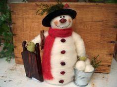 *snowman ready for winter fun