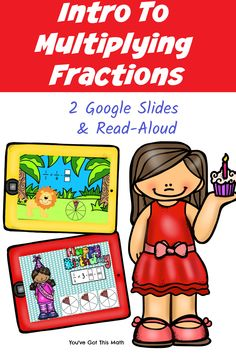 TWO Multiplying Fractions Activities Using Google Slides Operations With Fractions, Multiplying Fractions, Fraction Activities, Hands On Activities, Guided Math, Working With Children, Read Aloud, My Books, Preschool