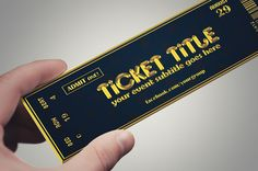 Golden style TICKET template by Tzochko on Creative Market