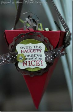 Petal Cone from Stampin' Up.