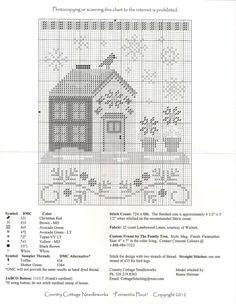 Country Cottage Needleworks - Santa Village: Poinsettia Cottage