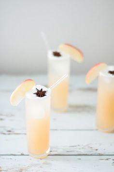 Apple Brandy Allspice Fizz | craftandcocktails.co for Sugar & Cloth