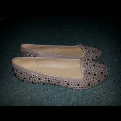 Studded Tan Flats Tan studded flats; worn once; size 8.5 Paprika Shoes Flats & Loafers