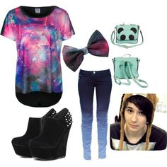 """Dan Howell Inspired"" by coolgummy on Polyvore. Wow, did not think I would find a girls outfit inspired by Dan...I love it ❤️ he is my favourite Youtuber - I really relate to his videos :) I love his inspirational speeches that come from nowhere and his awkwardness."