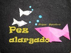 Origami - Papiroflexia. Tutorial: Pez alargado, fácil
