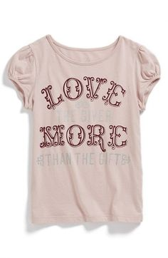 Peek 'Stay Cool' Tee (Toddler Girls, Little Girls & Big Girls) available at #Nordstrom