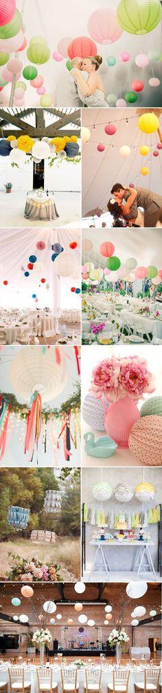 21 Lantern Wedding Decor Ideas - Colorful - MG Evénements Ile de Ré - mariage - Décoration sous chapiteau - lanterne - lampions