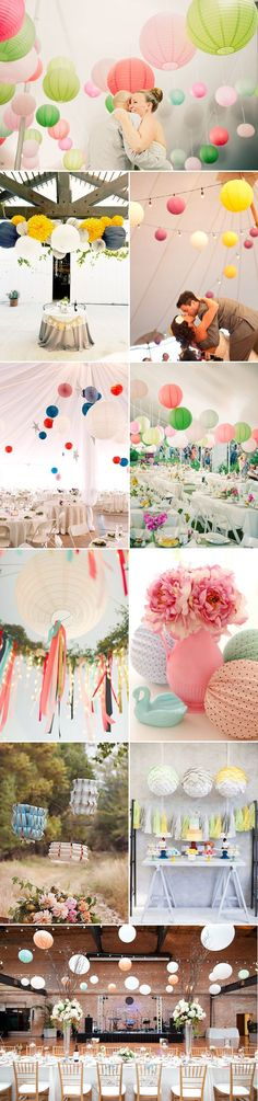 21 Lantern Wedding Decor Ideas - Colorful