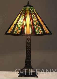 Tiffany Style Stained Glass Mission Lamp