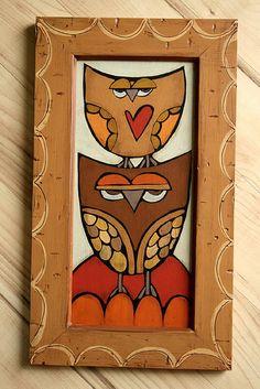 Owl collage art by MyOwlBarn, via Flickr