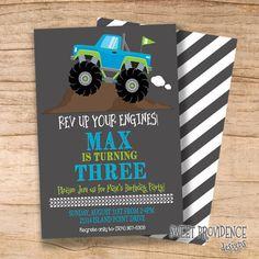 Monster Truck Birthday Invitation / Boys by SweetProvidence