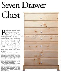 Tall Chest of Drawers Plans - Furniture Plans
