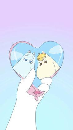 Moomin Wallpaper, Kawaii Wallpaper, Pastel Wallpaper, Wallpaper Quotes, Iphone Wallpaper, Moomin Cartoon, Cute Cartoon, Character Illustration, Illustration Art
