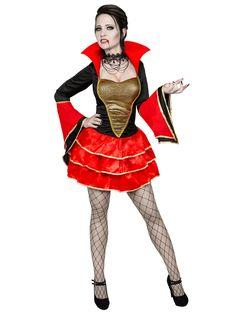 Sexy Barock-Vampirin Damenkostüm schwarz-rot-gold. Aus der Kategorie Halloween Kostüme / Halloween Kostüme Damen. Nicht nur die Zähne dieser Blutsaugerin sind rasiermesserscharf. Mit dem Vampir-Damenkostüm baden Sie an Halloween nicht nur im Blut, sondern auch in den Blicken all Ihrer Verehrer!