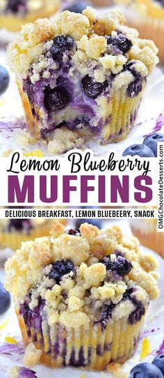 Blueberry Lemon Muffins are a delicious breakfast choice on a spring or summer day. The bright tang of lemon zest and juice mingled with sweet blueberries makes these muffins worth waking up for. Essen und Trinken Blueberry Lemon Muffins are a delicious Dessert Dips, Smores Dessert, Appetizer Dessert, Breakfast And Brunch, Breakfast Muffins, Breakfast Dessert, Blueberry Breakfast Cakes, Ideas For Breakfast, Breakfast Juice